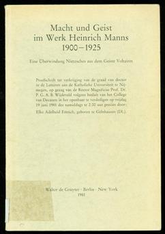 Macht und Geist im Werk Heinrich Manns 1900-1925