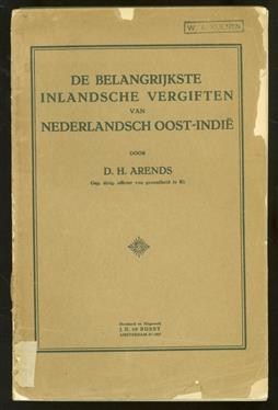 De belangrijkste inlandsche vergiften van Nederlandsch Oost-Indië
