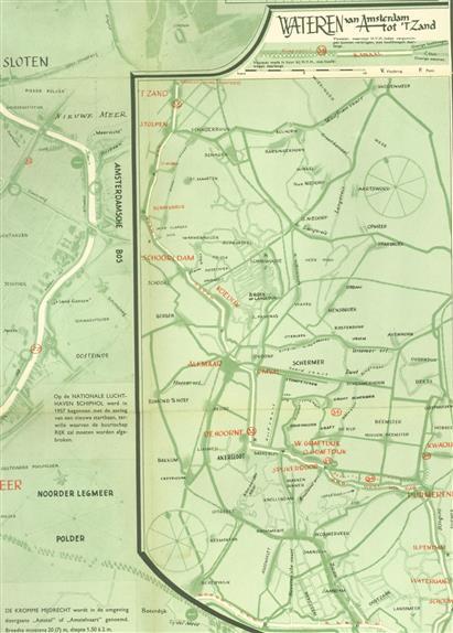 Waterkaart van de hengelsportvereniging Haarlem ( HvH )