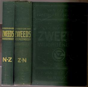 Zweeds handwoordenboek ( Dl. 1: Zweeds-Nederlands. Dl. 2: Nederlands-Zweeds )