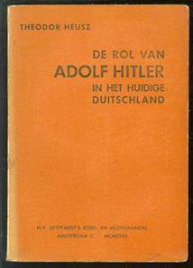 De rol van Adolf Hitler in het huidige Duitschland