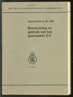 Beschrijving en gebruik van het gasmasker C3 - voorschrift 10-250