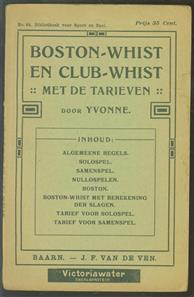 Boston-whist en club-whist : met de tarieven