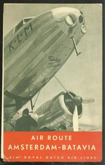 K.L.M. Amsterdam-Batavia : a 14.0000 kilometre (8800 mile) airway :the regularity, increased speed and splendid comfort of this line is based upon: K.L.M. organization, Fokker/Douglas Aircraft, Shell products and Shell service