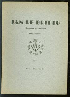 Jan de Britto, missionaris en martelaar, 1647-1693
