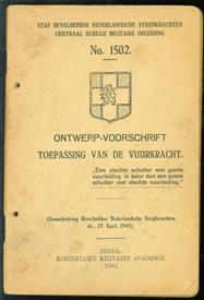 Ontwerp voorschrift TOEPASSING VAN DE VUURKRACHT ( No 1502 )