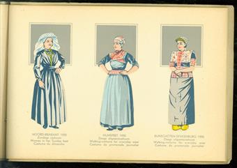 Nederlandse klederdrachten = National costumes in the Netherlands = Les costumes nationaux de Hollande