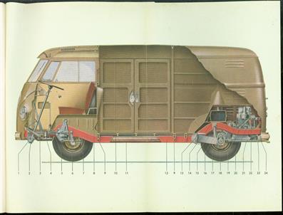 Handleiding vw transporter 1957 ( Dutch manual VW transporter ) met voorruit in 2 delen