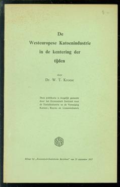 De Westeuropese katoenindustrie in de kentering der tijden