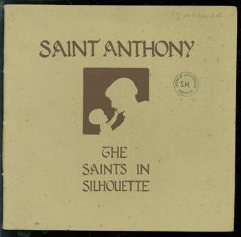 Saint Anthony of Padua. the saints in silhouette