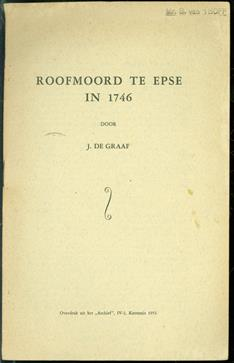 Roofmoord te Epse in 1746