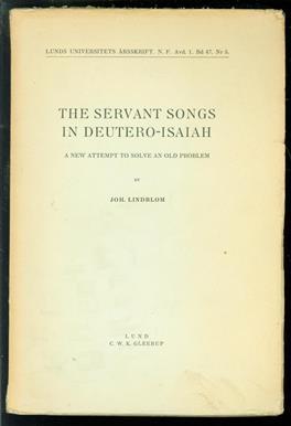 The servant songs in Deutero-Isaiah