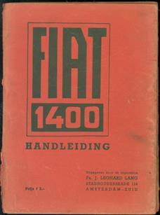 Fiat 1400 Handleiding.