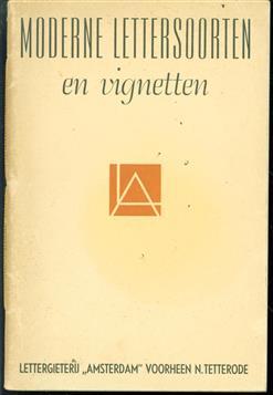 Moderne lettersoorten en vignetten