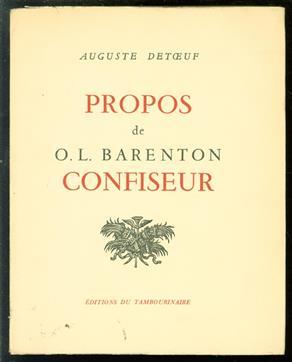Propos de O.-L. Barenton, ancien élève de l'Ecole Polytechnique Texte imprimé