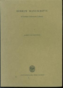 Hebrew manuscripts of Leiden University Library