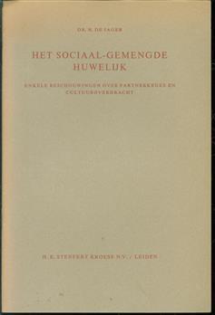 Het sociaal-gemengde huwelijk, enkele beschouwingen over de partnerkeuze en cultuuroverdracht