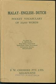Malay-English-Dutch pocket vocabulary of 20.000 words