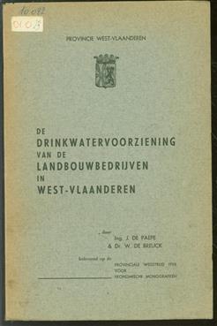 De drinkwatervoorziening van de landbouwbedrijven in West-Vlaanderen