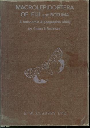 Macrolepidoptera of Fiji and Rotuma : a taxonomic and biogeographic study