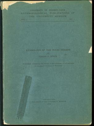 Ethnology of the Yuchi Indians ( Original edition )
