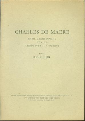 Charles de Maere en de vernieuwing van de handweverij in Twente