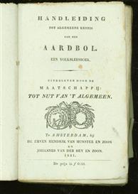 Handleiding tot algemeene kennis van den aardbol, een volksleesboek ( 2e uitgebreide druk )