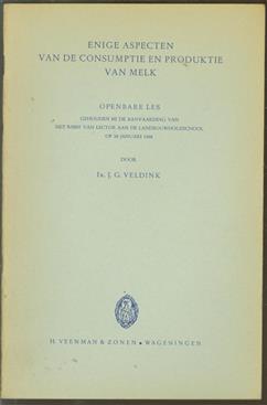 Enige aspecten van de consumptie en produktie van melk