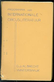 Programma van internationale circusliteratuur
