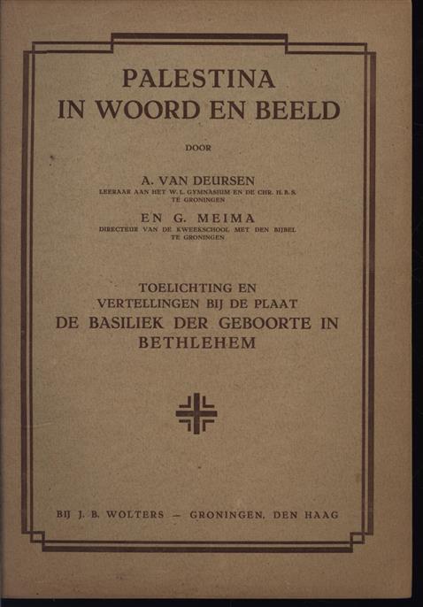 Palestina in woord en beeld: Toelichtingen en vertellingen bij de plaat : DE BASILIEK DER GEBOORTE IN BETHLEHEM.