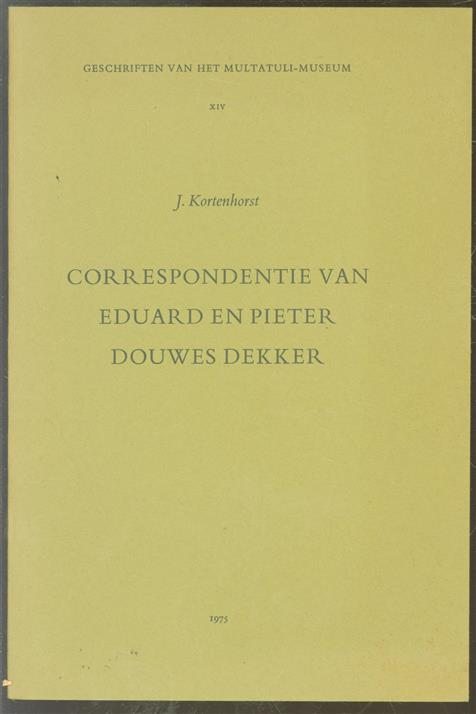 Correspondentie van Eduard en Pieter Douwes Dekker