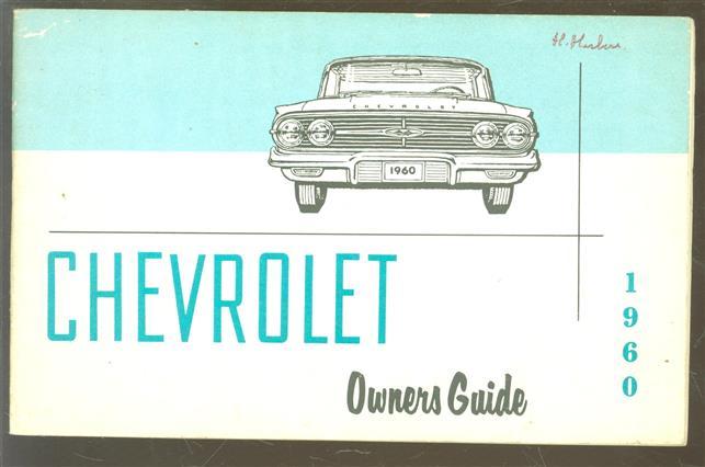 1960 Chevrolet owner's guide