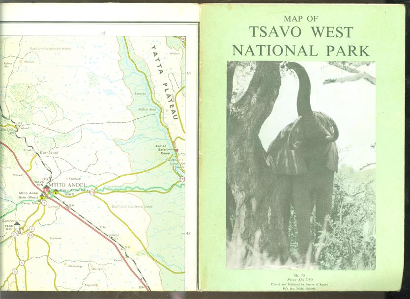 Map of Tsavo West National Park.