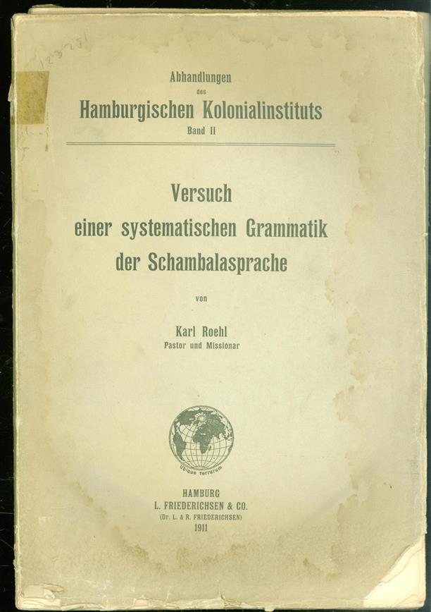 Versuch einer systematischen Grammatik der Schambalasprache