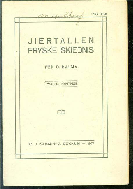 Jiertallen Fryske skiednis