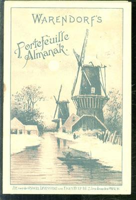 Warendorf's portefeuille almanak ( 1898). premie op warendorf's geïllustreerde familiekalender