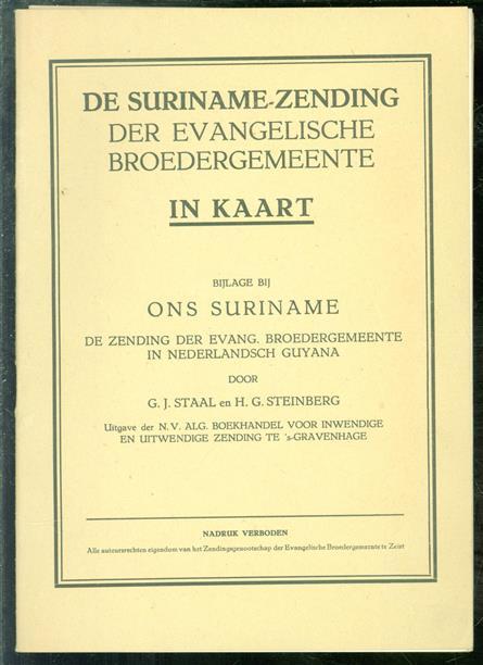 De Suriname-zending der Evangelische Broedergemeente in kaart