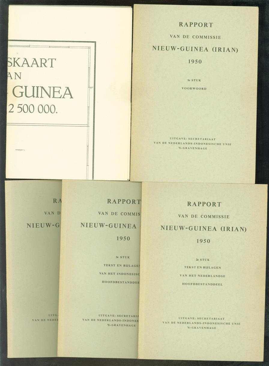 Rapport van de commissie Nieuw-Guinea (Irian) 1950 ( compleet met losse kaart )
