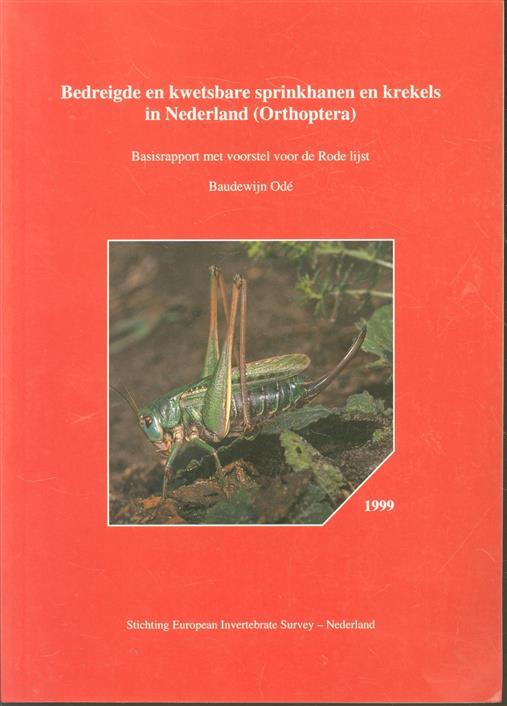 Bedreigde en kwetsbare sprinkhanen en krekels van Nederland (Orthoptera), basisrapport met voorstel voor de Rode lijst