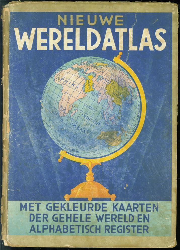Uitgebreide nieuwe wereld atlas : met 48 kaarten in vele kleuren en een alphabetisch register