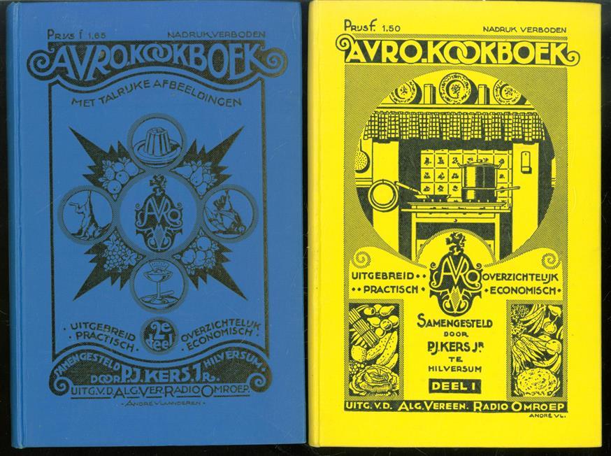 1e + 2e deel AVRO kookboek, uitgebreid, overzichtelijk, practisch, economisch