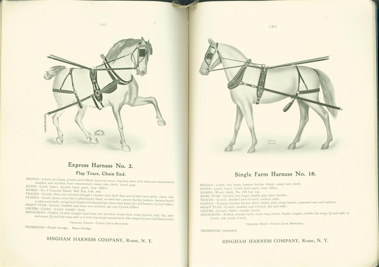 Manefactures of Harness, Horse collars and saddlery. Catalogue N0 5 ( including pricelist no 26 October 1913 )