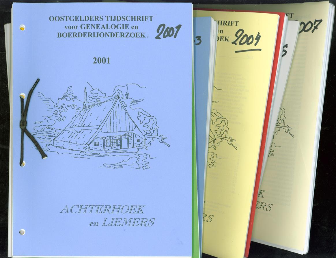 Oostgelders tijdschrift voor genealogie en boerderijonderzoek 2001 tm 2007