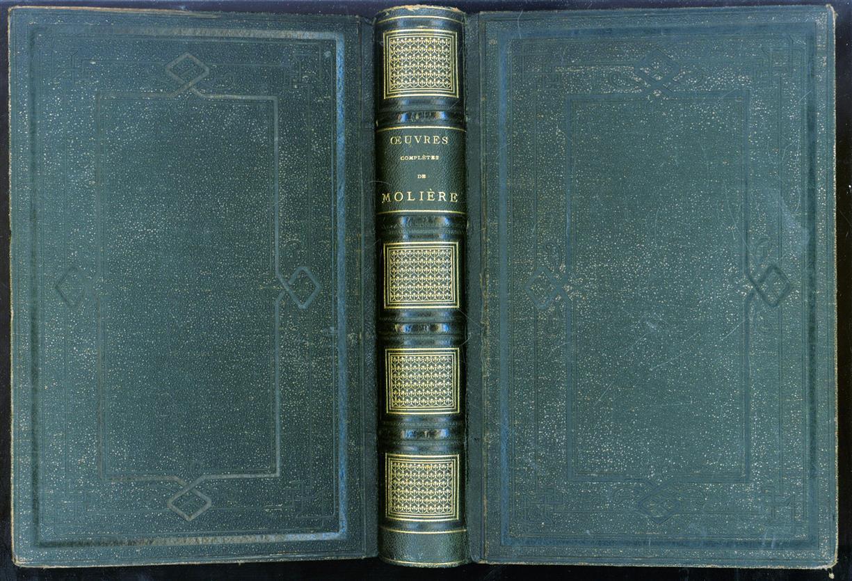 Oeuvres complètes de Molière : avec des notes explicatives sur les mots qui ont vieilli, ornée de portraits en pied coloriés représentant les principaux personnages de chaque pièce