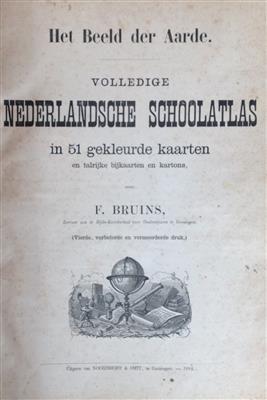Het beeld der aarde, volledige Nederlandsche schoolatlas in 51 gekleurde kaarten - 4e druk