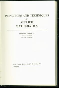 Principles and Techniques in Applied Mathematics