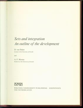 Sets and integration : an outline of the development