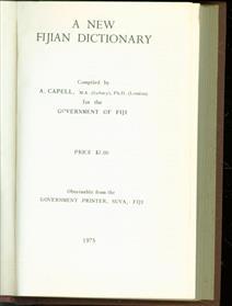 A New Fijian Dictionary