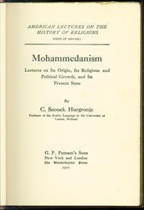 Mohammedanism, Lectures on its origin, its religious and political growth, and its present state