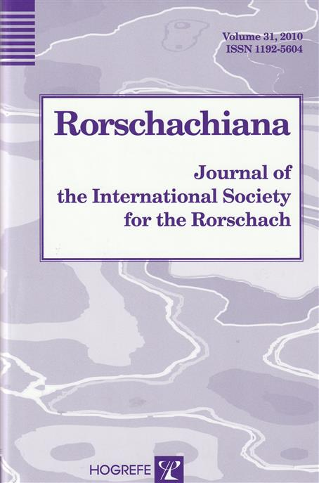 RORSCHACHIANA : journal of the international society for the rorschach,.
